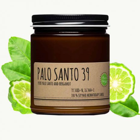 palo santo and bergamot candle 9oz