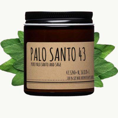 palo santo and sage candle 4oz