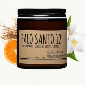 palo santo and tangerine candle 4oz