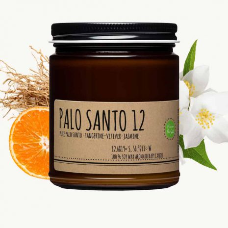 palo santo and tangerine candle 9oz