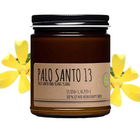 Palo santo and ylang ylang candle